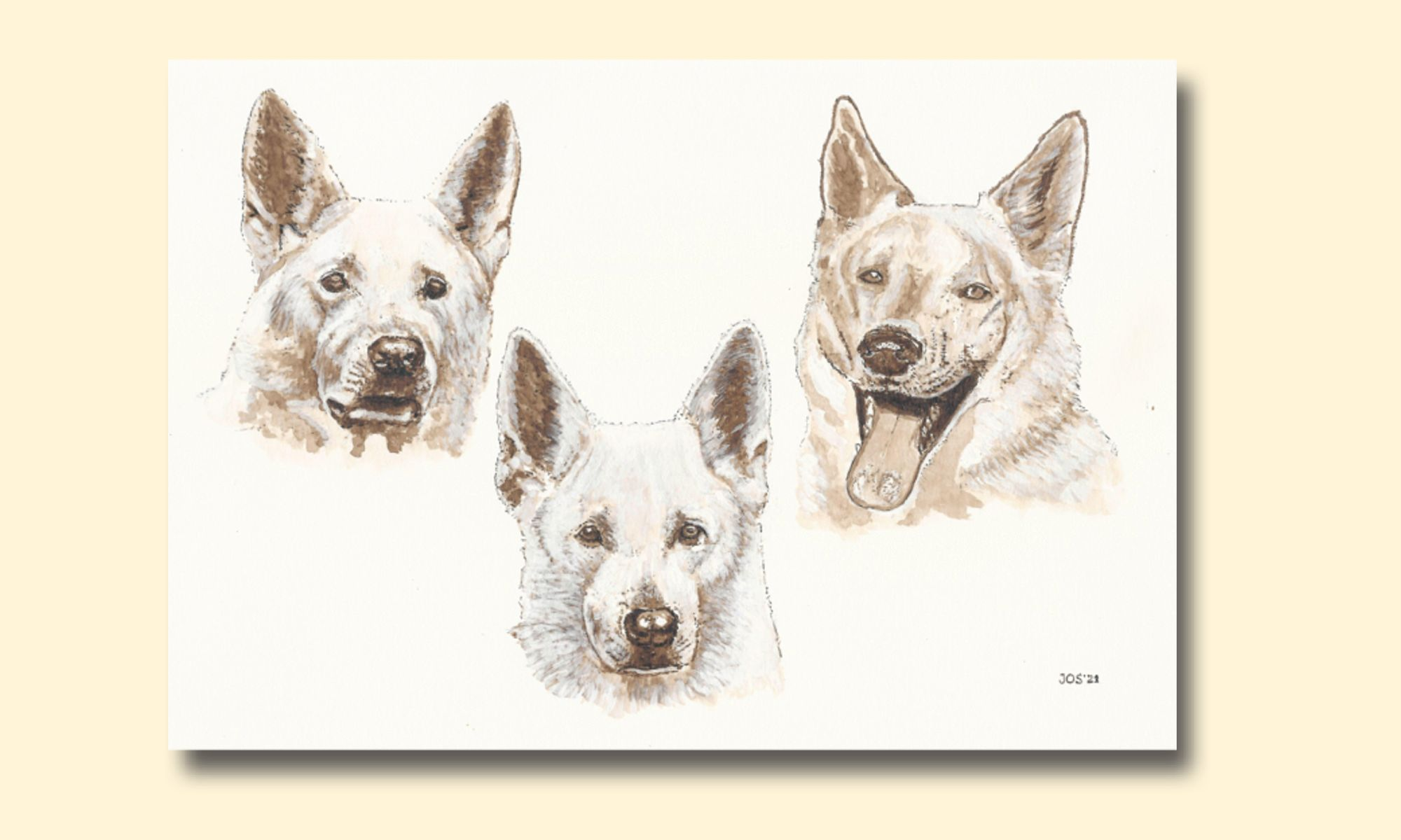 ™Sepiaschetsen - Pentekeningen -  Pen drawings